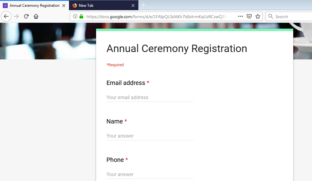Google form without sign in